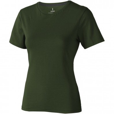 ELEVATE Damen T-Shirt Nanaimo, armeegrün, XL