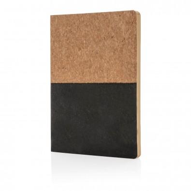 Notizbuch aus Kork, schwarz schwarz