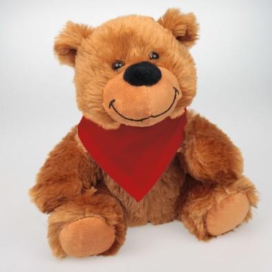 Plüsch Bär Kuno mit Halstuch rot