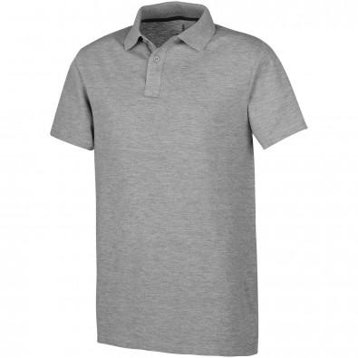 Primus Poloshirt für Herren, grau meliert, M