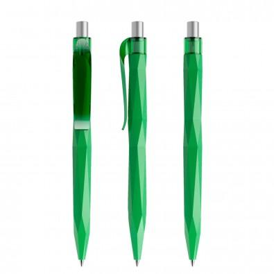 prodir® Kugelschreiber QS20 PMT Push, hellgrün/silber satiniert