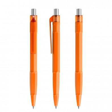 prodir® Kugelschreiber QS30 PMT Push, orange/silber satiniert