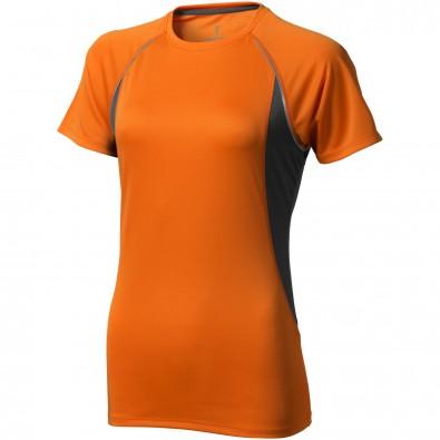 ELEVATE Damen T-Shirt Quebec cool fit, orange,anthrazit, M