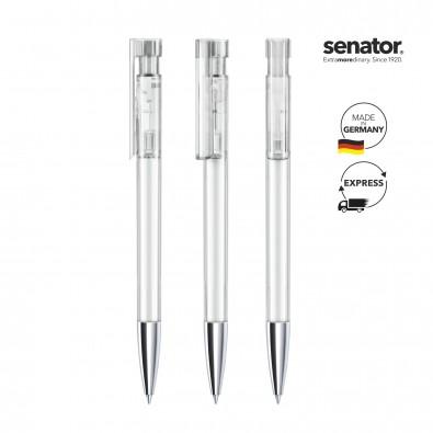 senator® Druckkugelschreiber Liberty Clear MTT, weiß