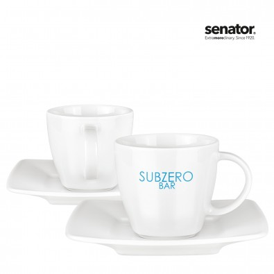 SENATOR Maxim Espresso Duo Porzellanset 4-teilig, weiß