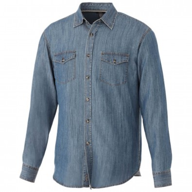 Sloan langärmliges Hemd in Jeansoptik denim