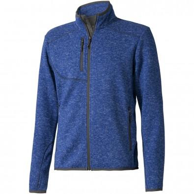 ELEVATE Herren Strickfleece Jacke Tremblant, heather blau, XL