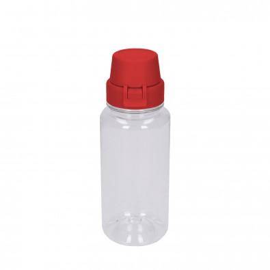"Trinkflasche ""School"" klar-transparent 0,4 l, transparent/rot"