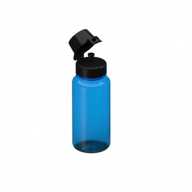 Tritan Trinkflaschen, 0,4 l, transparent-blau