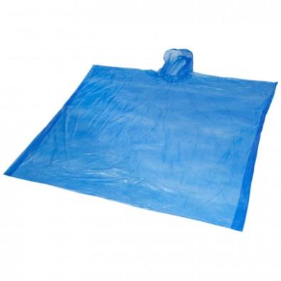 Ziva Einweg Regenponcho mit Hülle, royalblau