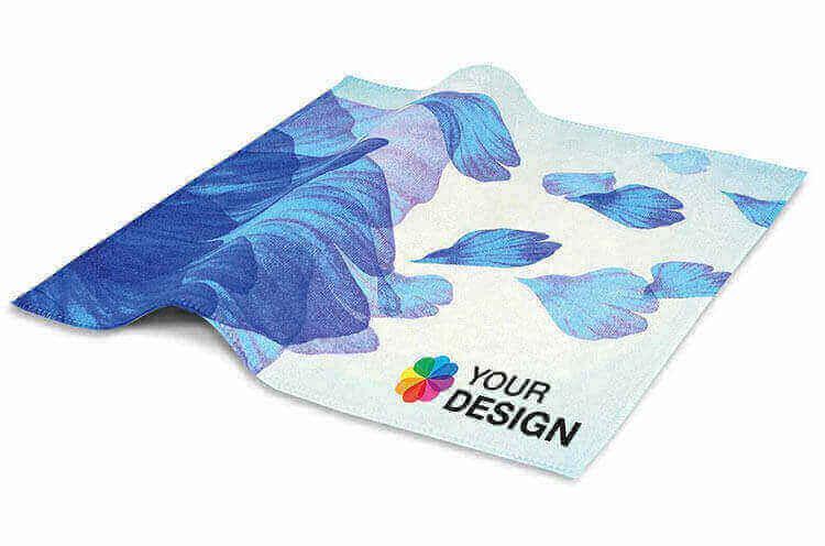 Messeartikel-Werbemittel wie dieses Displey-Reinigungstuch eignen sich hervorragend als schnelles, nützliches Give Away.